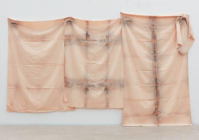 '평면 오브제', 천에 에어브러시, 가변크기, 1977