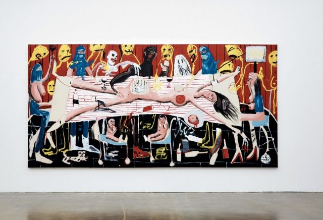 'Mothers Ruin', Oil, Acrylic and Spray Paint on Canvas, 200×400cm, 2016