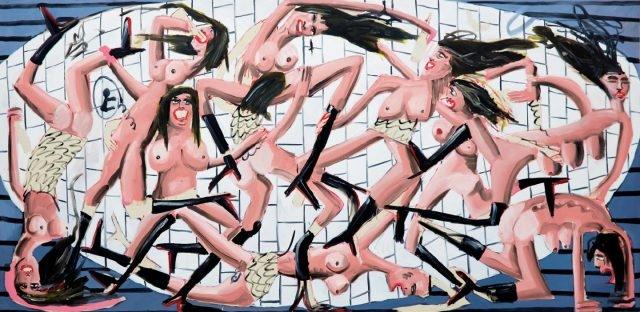 'Pinot Grigio', Oil, Acrylic and Spray Paint on Canvas, 200×400cm, 2016