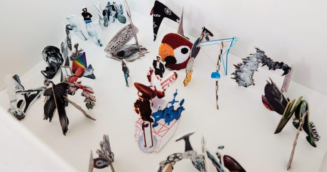 아라리오 갤러리에서 열린 개인전 '뉴 스트럭처 & 릴리프' 전경의 모형