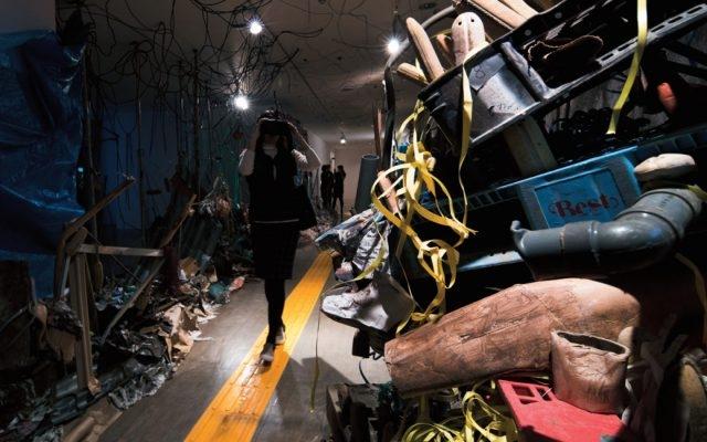 정연두, 'Blind Perspective', Installation View at Just Like The Road Across The Earth, Art Tower Mito, 2014 Photograph: Lee Jongchul, Courtesy of the artist Image provided by Kukje Gallery