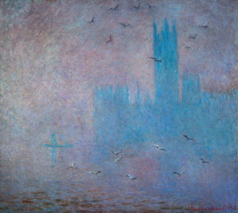 클로드 모네(Claude Monet), Les Mouettes. Le Parlement de Londres, 1904. Courtesy Musee d'Etat des Beaux-Arts Pouchkine, Moscou