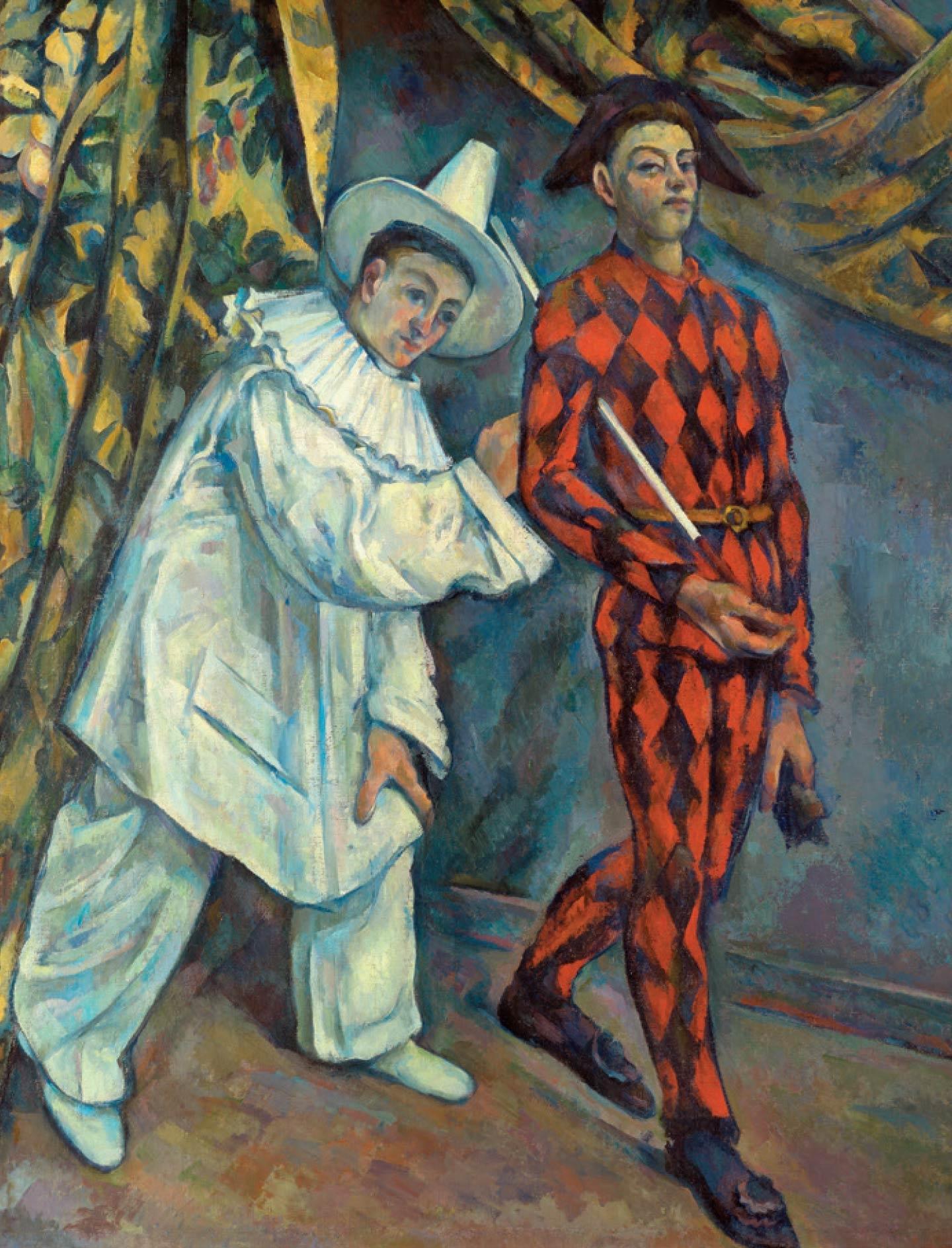 폴 세잔, 'Mardi Gras (Pierrot et Arlequin)', 1888-1890. Courtesy Musee d'Etat des Beaux-Arts Pouchkine, Moscou