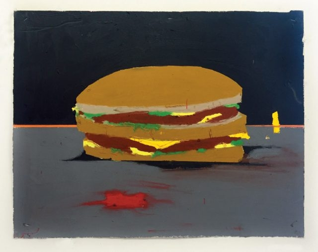 'Please Have Enough Acid In The Dish!' 에서 선보인 해롤드 안카트의 오일스틱 드로잉 'Untitled (Big Mac)', 2016 (ⓒ Harold Ancart, Courtesy C L E A R I N G and M+B Gallery, Los Angeles)