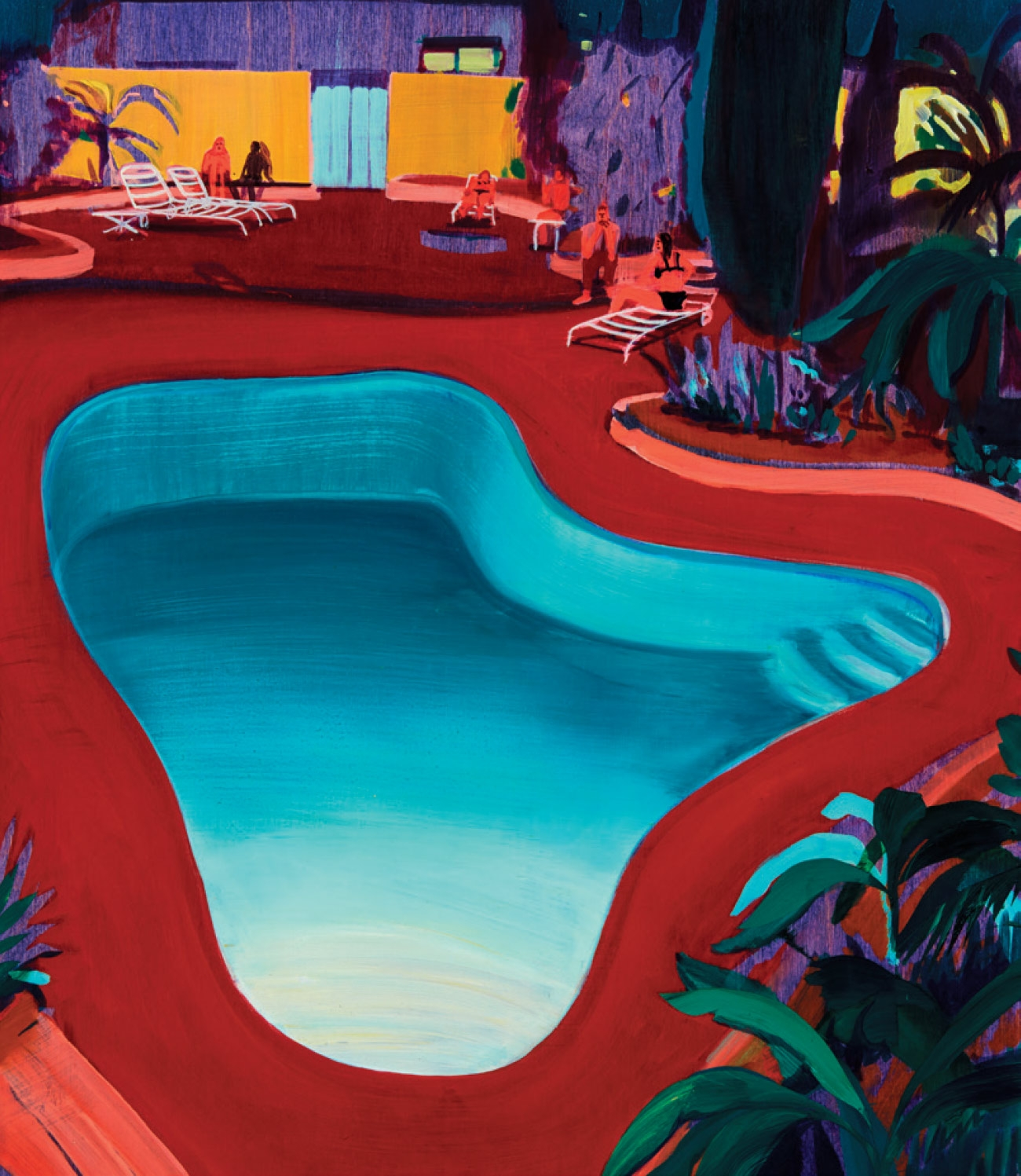 'Valley Pool Party', Oil on Panel, 61×50.8cm, 2016