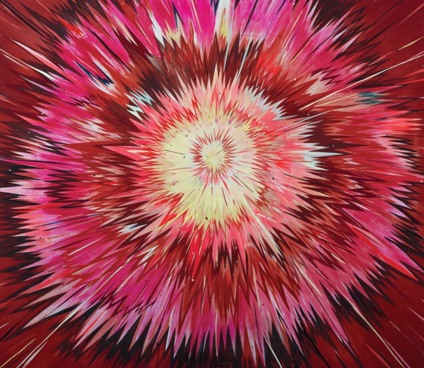 'Burst Painting', Oil and Acrylic on Panel, 203.2×228.6cm, 20