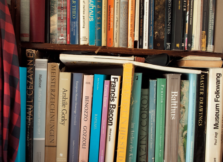 폴 세잔, 프랜시스 베이컨, 아실 고르키 등 회화와 관련된 오래된 책들