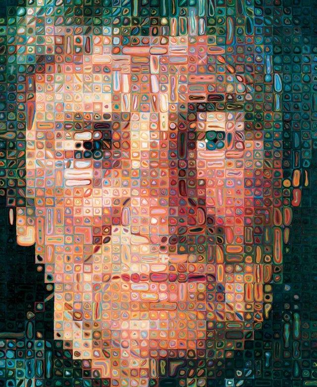 척 클로스(Chuck Close), 'Agnes', Oil on Canvas, 259.4×213.36cm, 1998