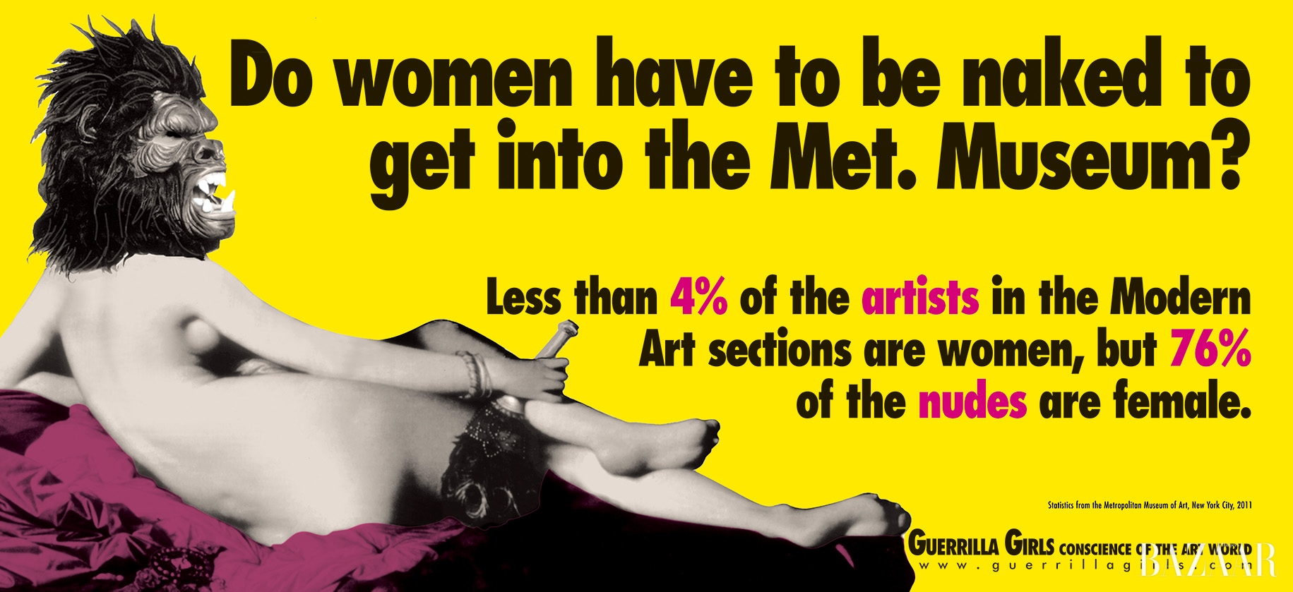 'Do Women Still Have to be Naked to Get Into the Met.Museum?', 2012, Courtesy the Guerrilla Girls