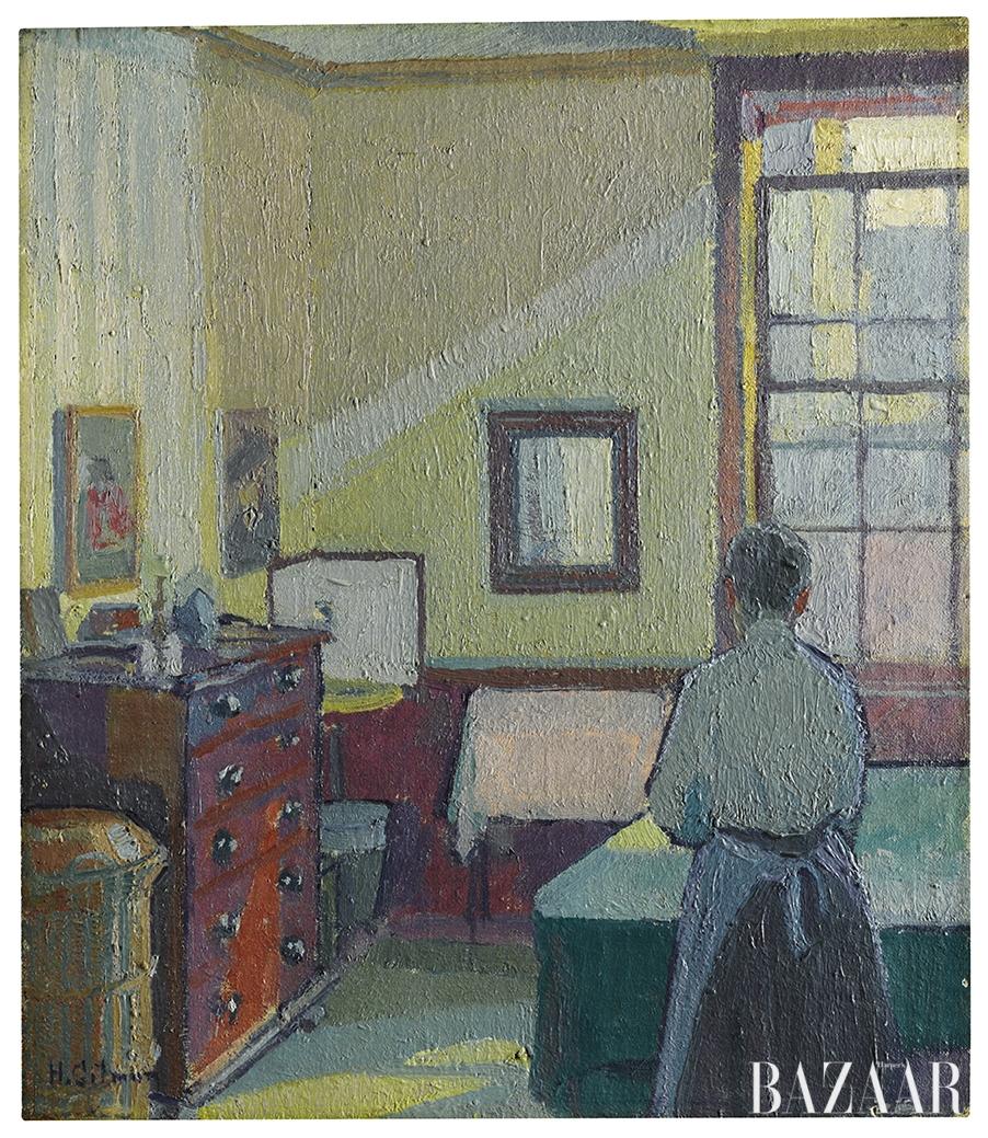 해럴드 길먼(Harold Gilman), 'Interior (Mrs Mounter)', Oil on Canvas, 38 by 33cm, 1917