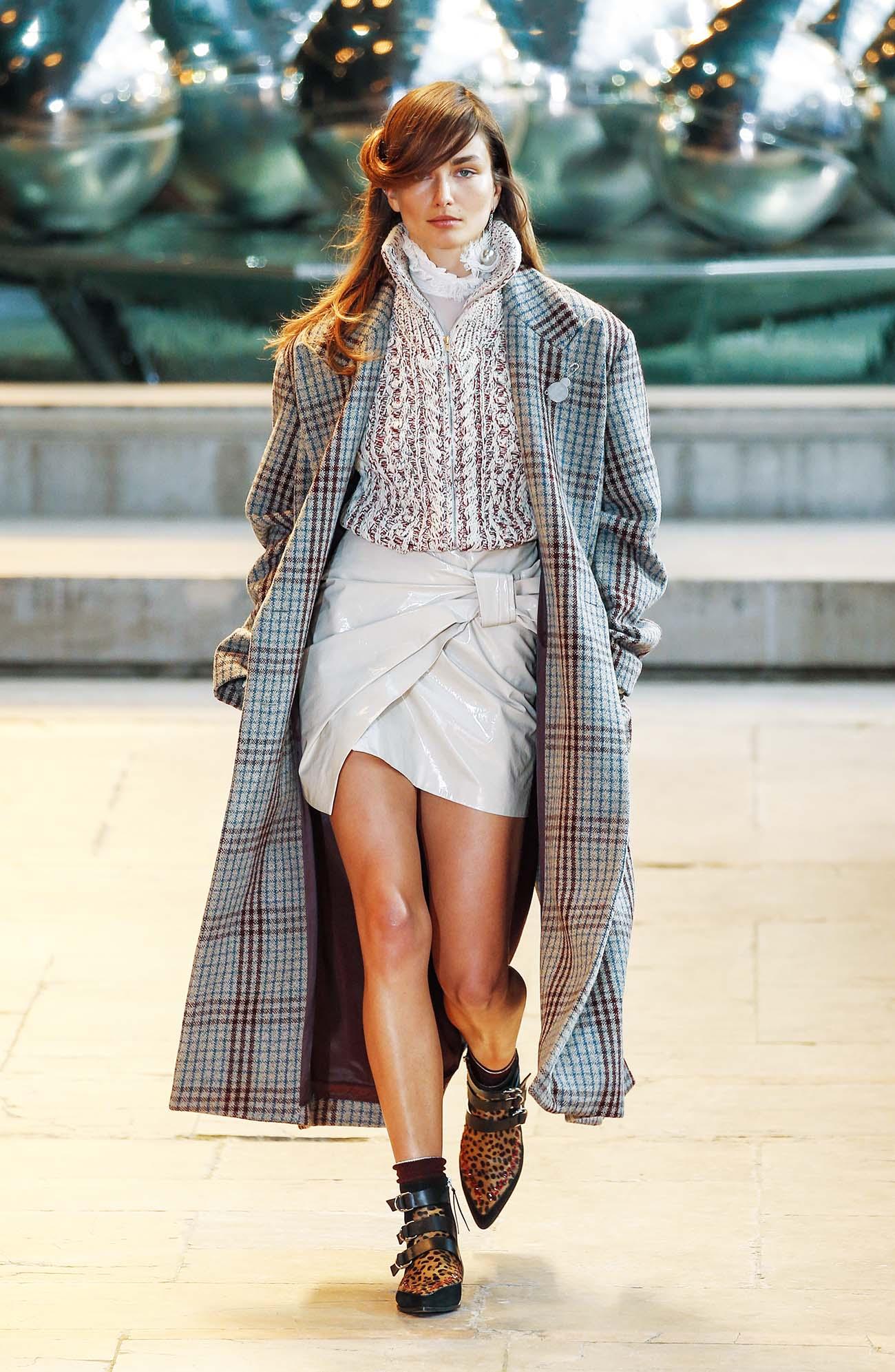 이번 시즌 체크 코트를 대하는 방법! 1980년대 풍으로 쿨하게 드레스다운하라.