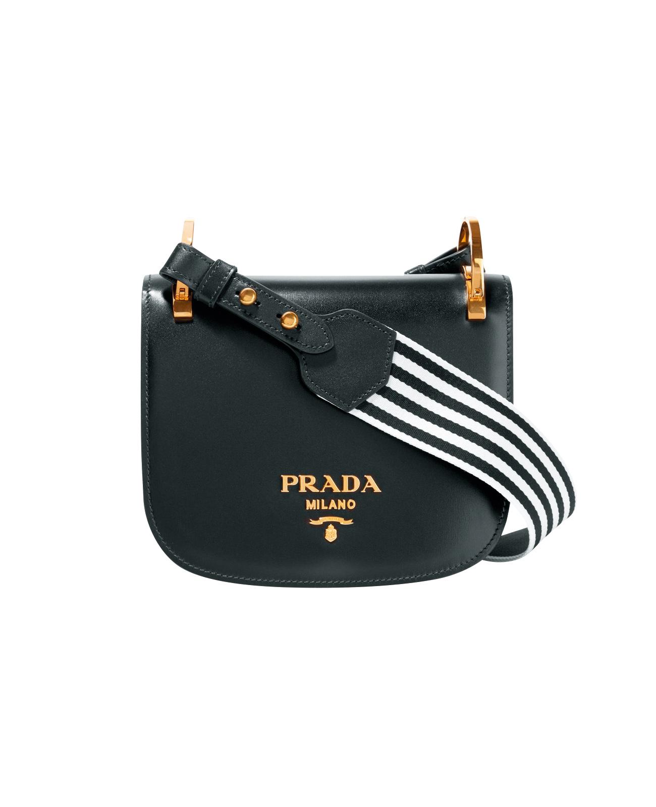 스트라이프 스트랩의 크로스 백은 가격 미정으로 Prada