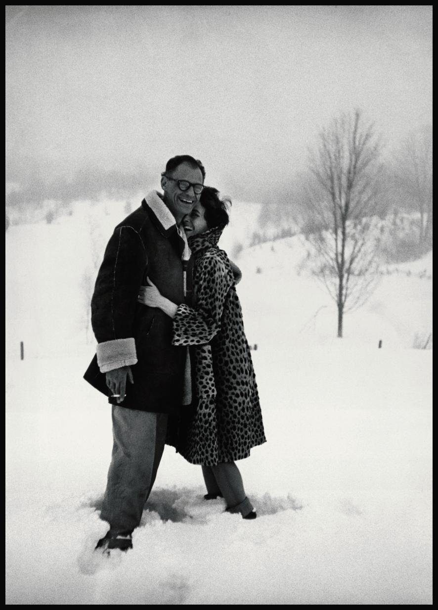 1962년 코네티컷에 위치한 집에서 모라스와 밀러