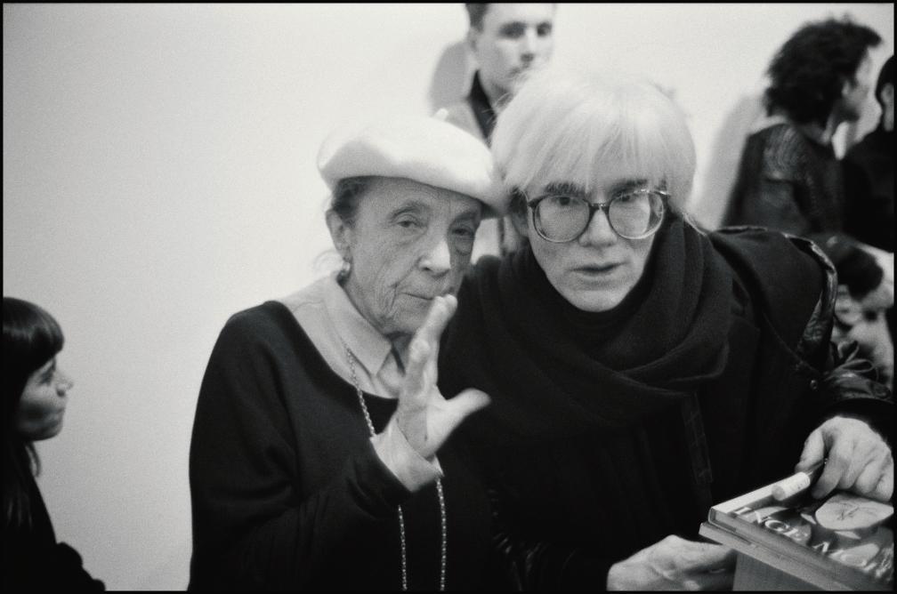 1987년 뉴욕에서의 루이스 부르주아와 앤디 워홀