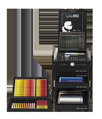 수용성 색연필 등 아티스트의 도구를 담은 한정판 콜라보레이션