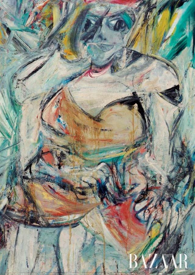 빌럼 데 쿠닝의 작품 'Woman II', 1952 (© 2016 The Willem de Kooning Foundation / Artists Rights Society (ARS), New York and DACS, London 2016)