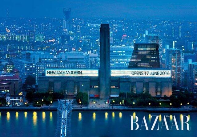 토요일 밤 10시까지 개방되는 테이트 모던 (The new Tate Modern © Hayes Davidson and Herzog & de Meuron)