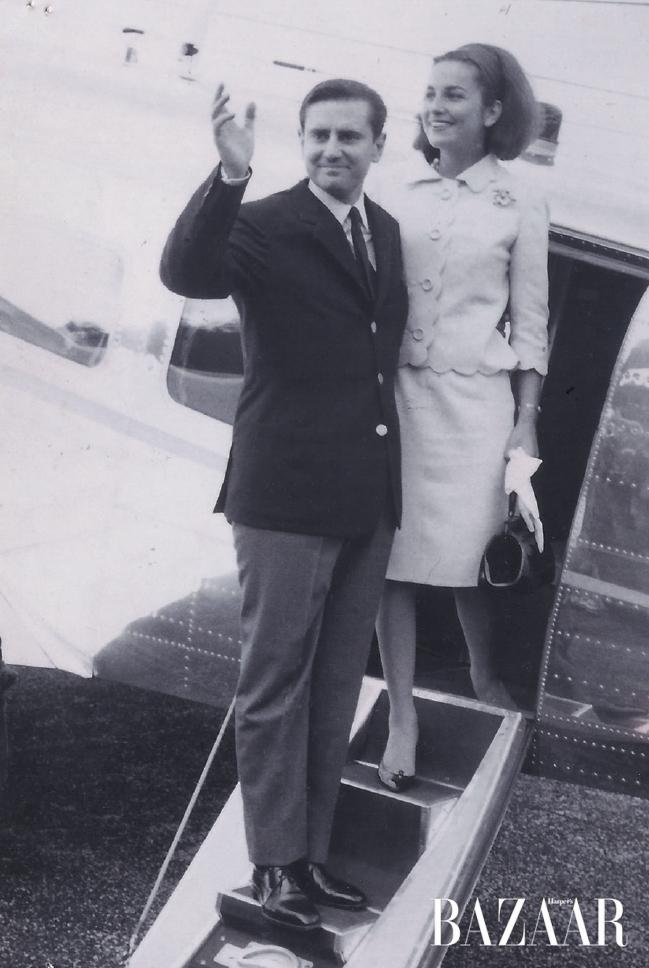 1963년 도빌에서 결혼식을 올린 위베르 도르나노와 이자벨