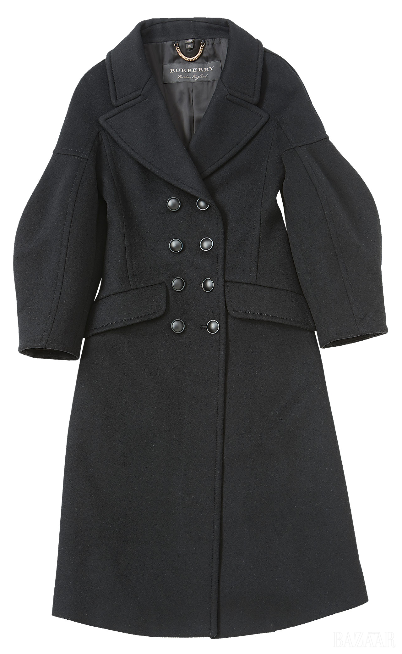 볼륨감 있는  소매의 드롭 숄더  재킷은 가격 미정으로  <strong>Burberry</strong>