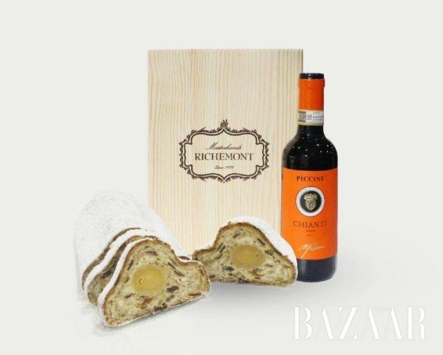 리치몬드제과점에서 판매 중인 슈톨렌 x 와인 선물 세트