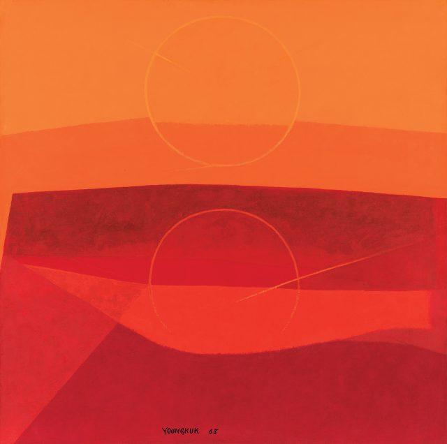 '원(円)-A', 캔버스에 유채, 1968