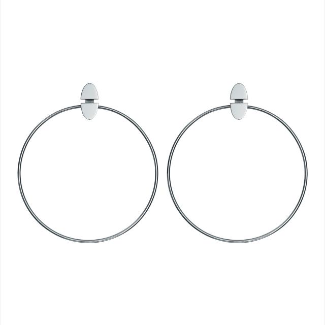 구조적인 후프 링 귀고리는 가격 미정으로 Hermès