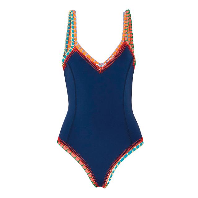 컬러풀한 크로셰 디테일의 수영복은 45만원대로 Kiini by Net-A-Porter