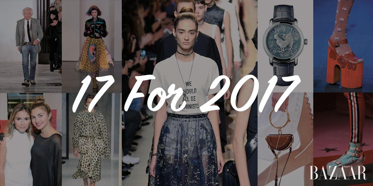 1백 주년을 맞은 발렌시아가와 캘빈 클라인으로 간 라프 시몬스, 2017 S/S 시즌 캣워크에서 존재감을 뽐낸 거대한 플랫폼 슈즈와 마이크로 백, 그리고 주목해야 할 패션 키즈와 뉴 페이스 모델들까지. <바자>의 레이더망에 포착된 2017년, 17개의 패션 뉴스를 주목하라.