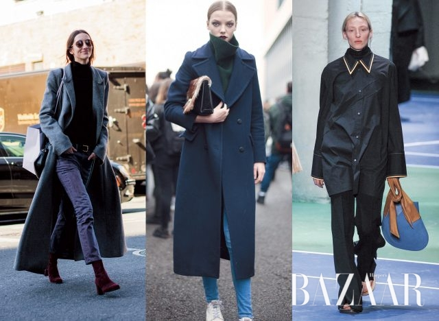 완벽한 피트의 블랙 터틀넥 스웨터는 어느 룩에나 훌륭한 조력자가 되어준다 / 컬러 터틀넥 스웨터로 윈터 룩에 포인트 더해볼 것 / Céline