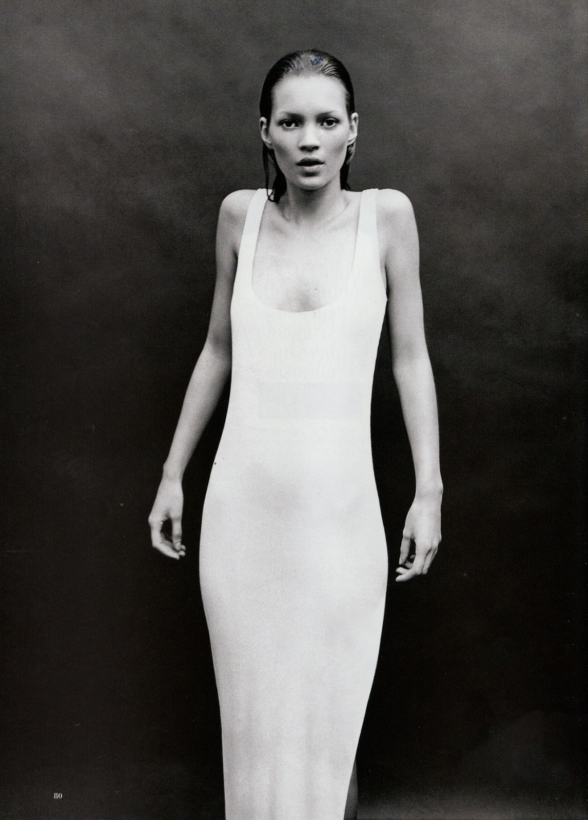 Kate Moss in Harper's Bazaar 1993
