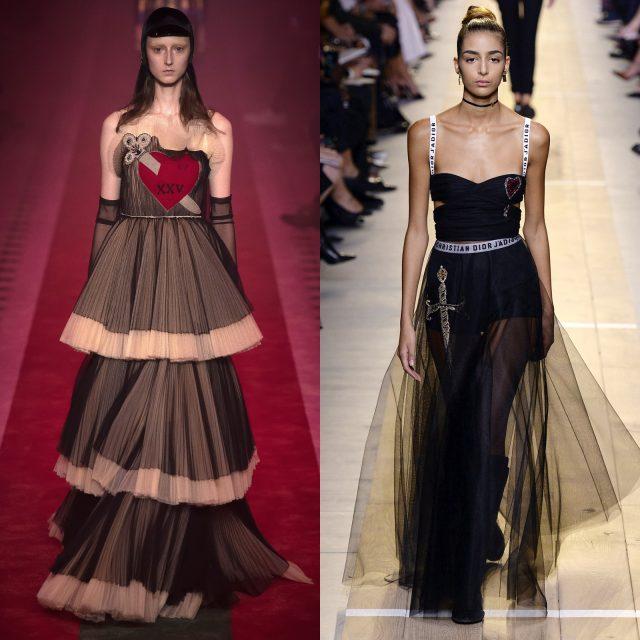 (왼쪽부터) 2017 S/S Gucci, 2017 S/S Dior