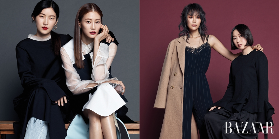 2005년에 시작해 글로벌 시장에서의 가능성이 엿보이는 한국계 신진 패션 디자이너들을 발굴하고 후원해온 삼성패션디자인펀드(SFDF). 올해로 12회를 맞은 SFDF 수상의 영예는 렉토(Recto)의 정지연과 고엔제이(Goen.J)의 정고운에게 돌아갔다. 2017년이 더욱 기대되는 두 디자이너와 그들의 크루, 모델 이현이, 안아름이 함께한 순간.