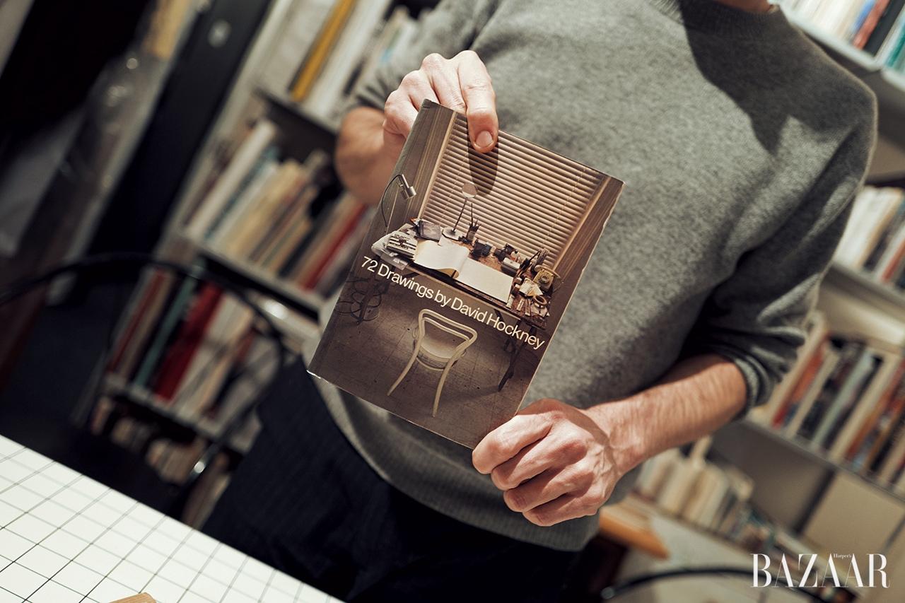 데이비드 호크니의 드로잉 72점이 담겨 있는'72 Drawings by David Hockney'