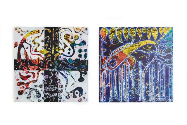 'Buluk', Acrylic on Cotton Canvas, 60×60cm / 'Holahun', Acrylic on Cotton Canvas, 60×60cm