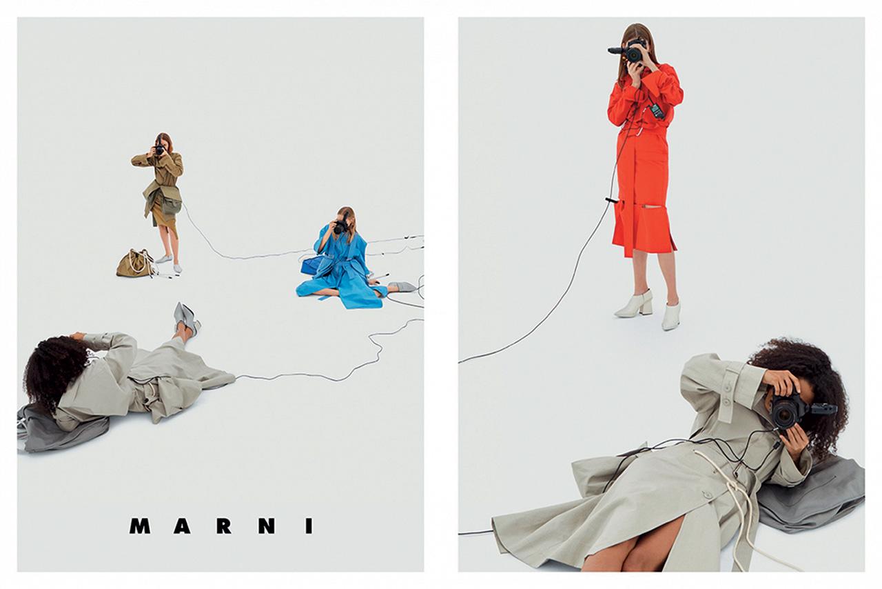 카메라를 든 모델들의 모습을 담은 2017 S/S 마르니 캠페인