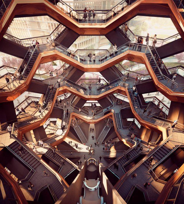 2018년 완공 예정으로, 뉴욕의 새로운 랜드마크로 기대를 모으고 있는 토마스 헤더윅의 주상복합빌딩 '선박(Vessel)'