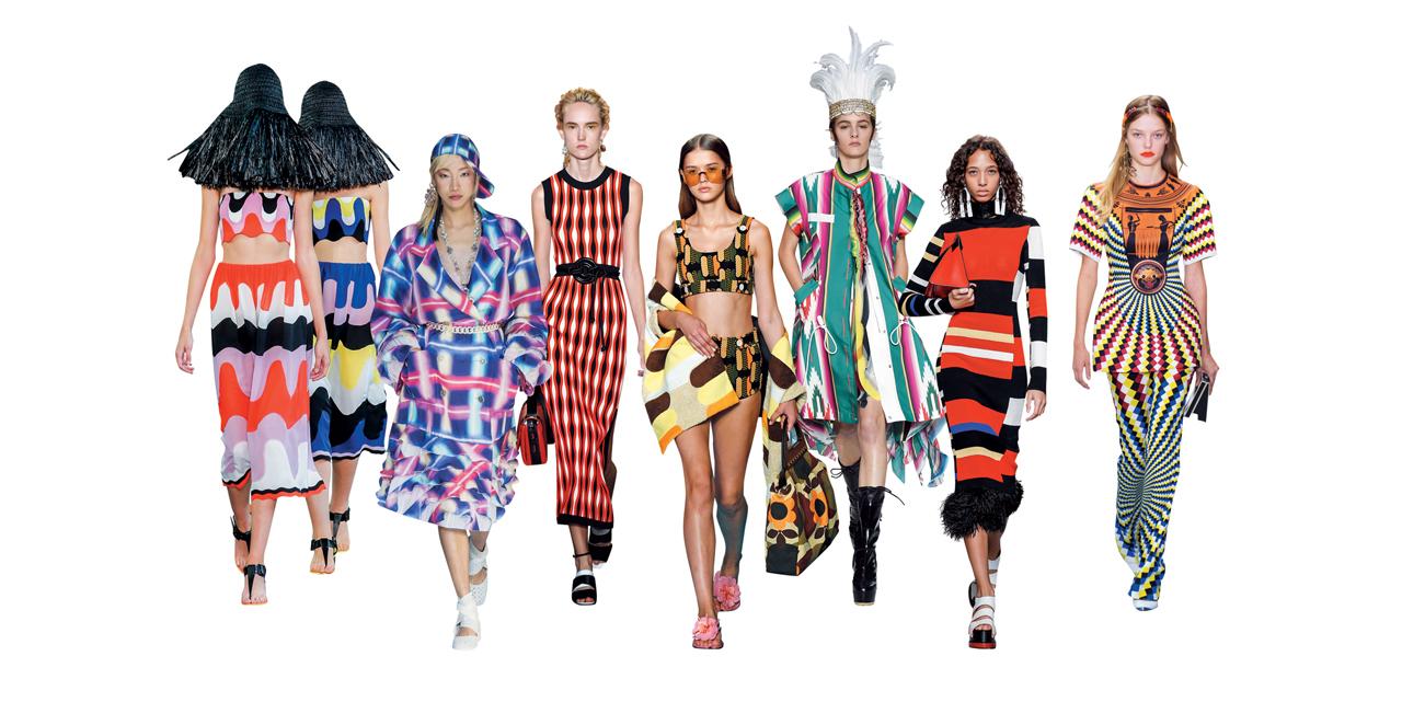 풍성한 실루엣이 두툼한 겨울 코트의 특권이라면, 패션의 봄을 이야기하는 데 빠질 수 없는 건 리드미컬한 '그래픽 패턴'이다.