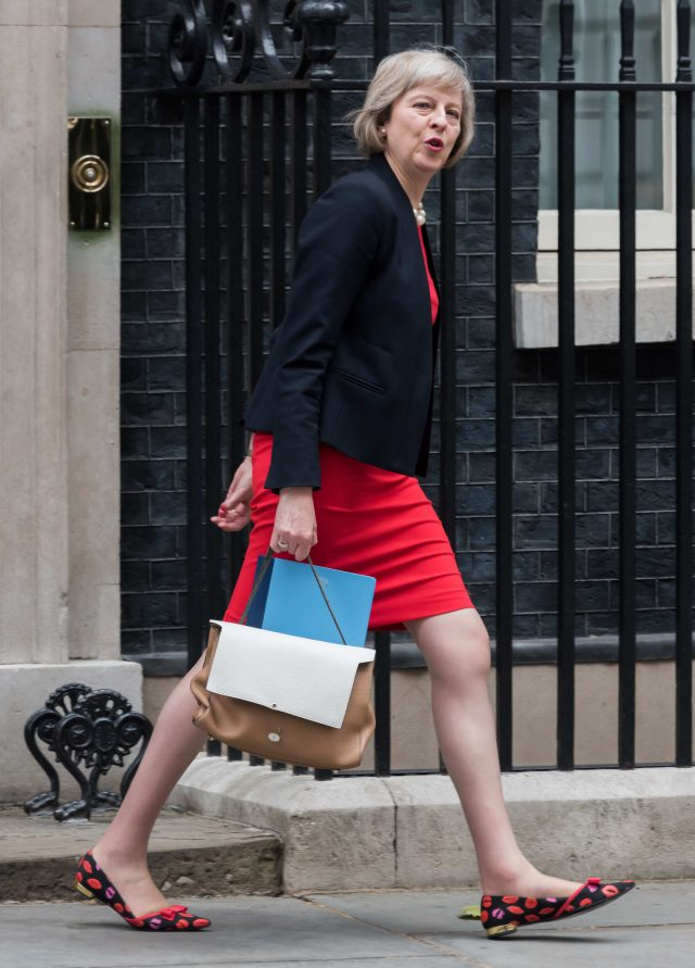 Mandatory Credit: Photo by Nils Jorgensen/REX/Shutterstock (4898708h)Theresa MayBudget Day, Downing Street, London, Britain - 08 Jul 2015