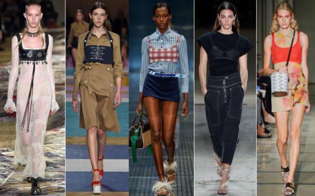 왼쪽부터 Alexander McQueen, Miu Miu, Prada, Isabel Marant, Cividini