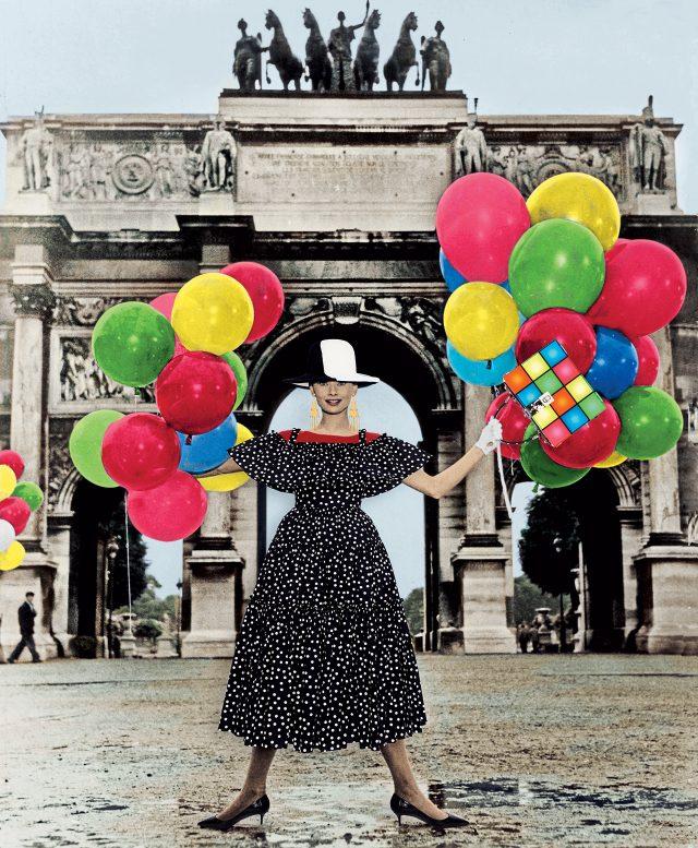 드레스와 백은 모두 Dolce & Gabbana, 모자는 Ellen Christine Couture, 귀고리는 Ralph Lauren Collection, 장갑은 Sermoneta, 슈즈는 Nancy Gonzalez 제품.