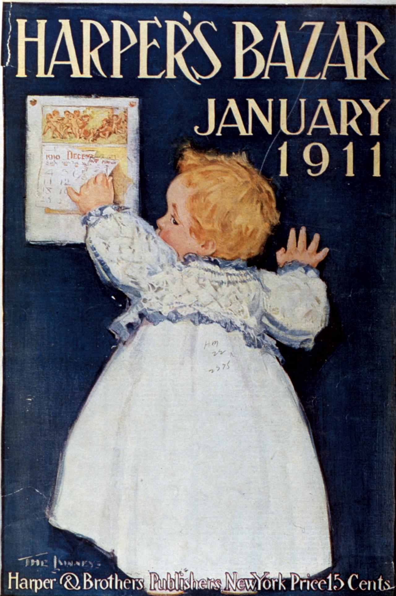 엘리자베스 조던이 에디터이던 시절(1900~1913)에 만든 <바자> 커버