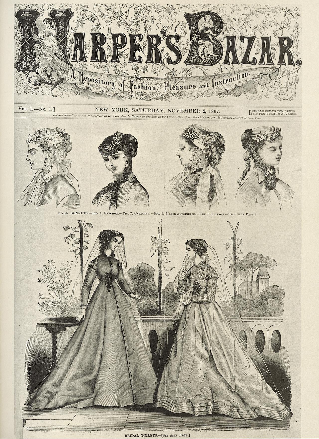 메리 부스가 에디터로 참여한 1867년의 <바자> 창간호