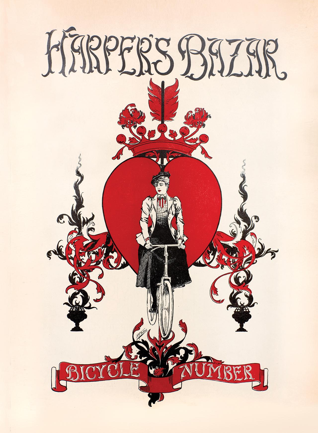 마거릿 생스터가 에디터이던 시절(1889~1899)에 만든 아르누보 스타일의 <바자> 커버