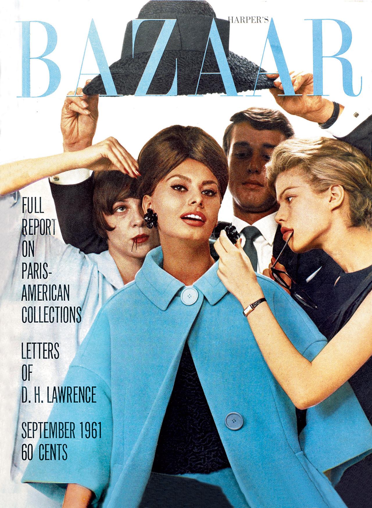 소피아 로렌이 등장한 1961년 9월호 커버