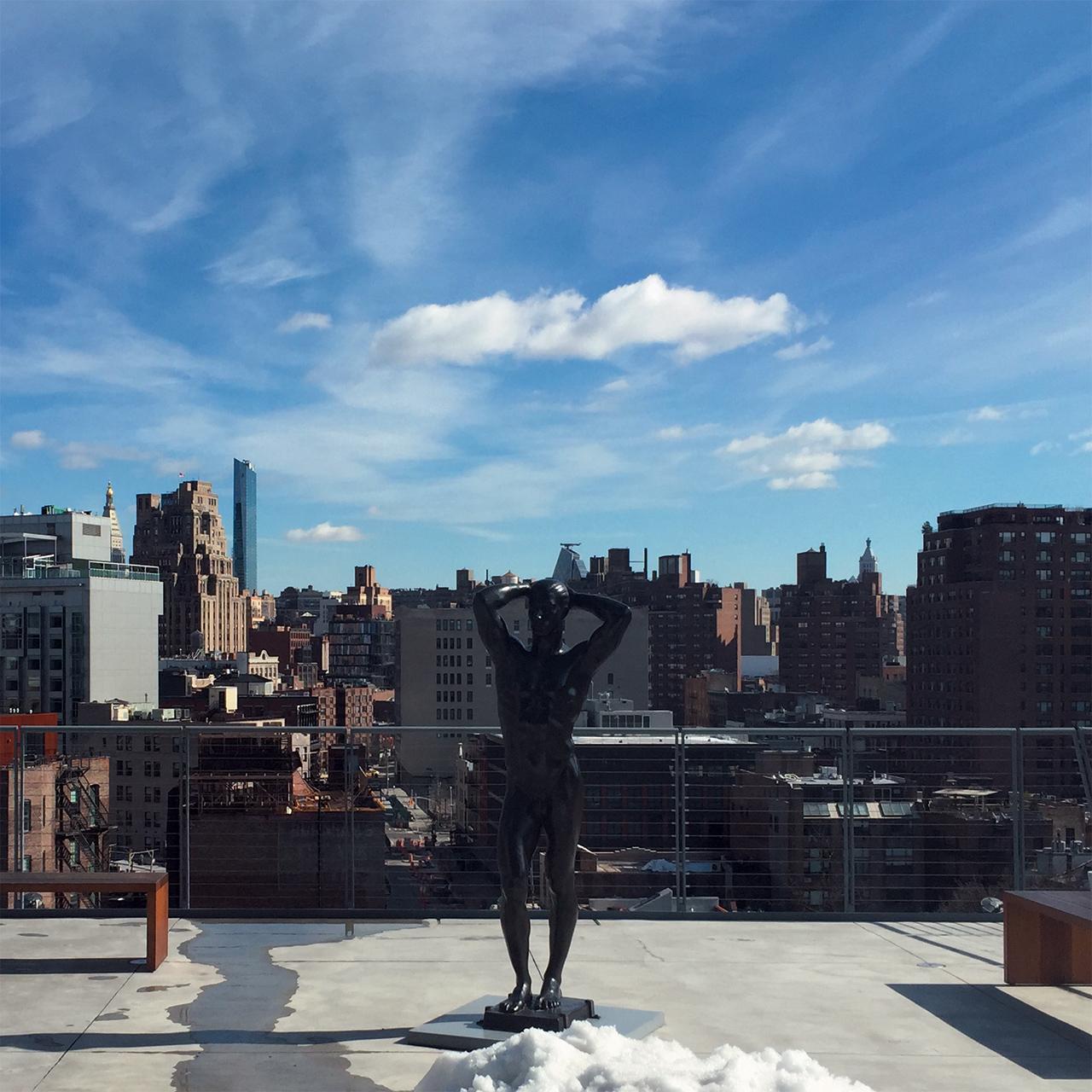 휘트니 뮤지엄에서 바라본 화창한 뉴욕의 모습