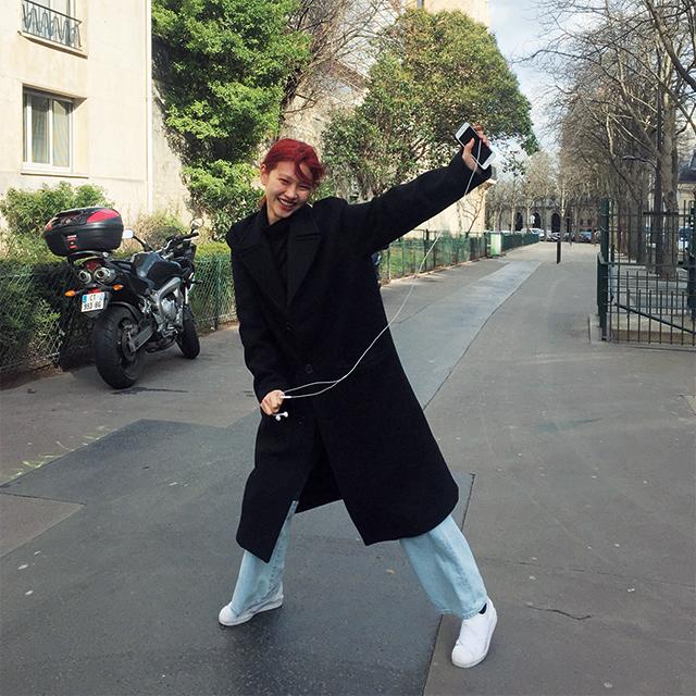 파리에서 만난 모델 정호연