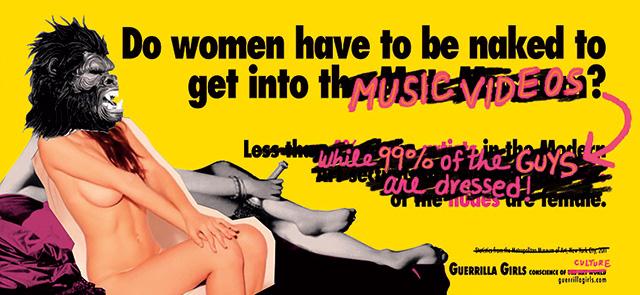게릴라 걸스, '여성들은 메트로폴리탄 박물관에 들어가기 위해서는 벌거벗어야 하는가?(DoWomenStillHaveToBeNakedToGetIntoTheMet. Museum?)', 2012CourtesytheGuerrillaGirls