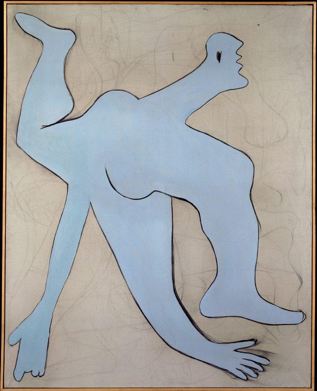 파블로 피카소, '파란 곡예사(L'acrobate Bleu), 1929년 11월, 캔버스에 유채와 목탄, 162×130cm©Succession Picasso, 2017Photo: ©RMN-Grand Palais (Musée national Picasso-Paris) / Mathieu Rabeau