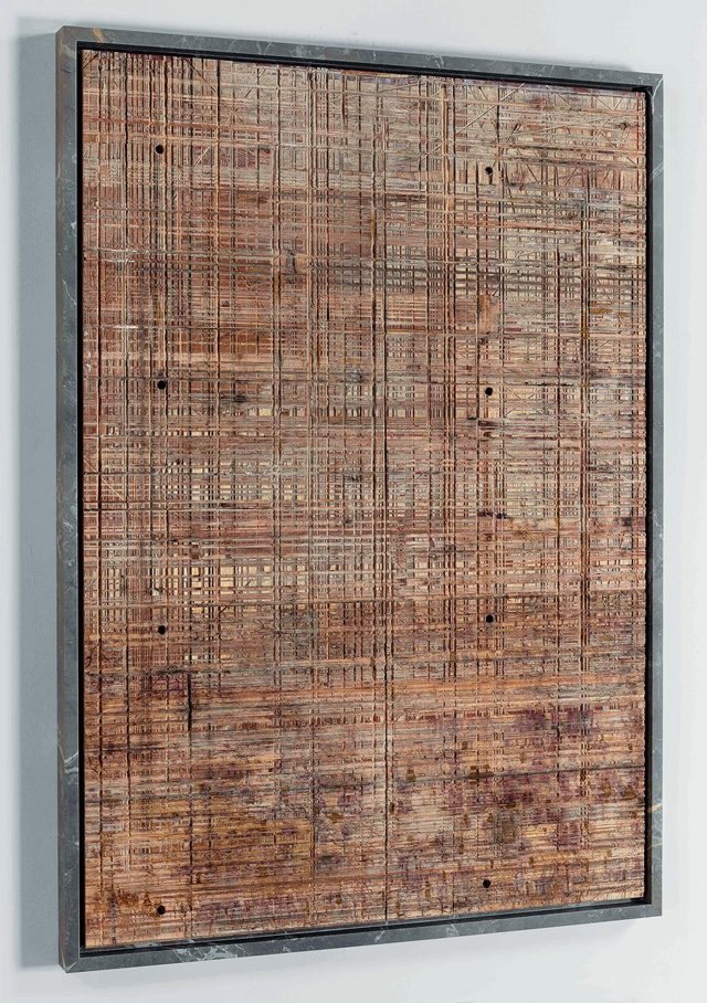 'Lost in the Complexity of a Language of My Own Making(Rubinoa)', 2016, Wood, Marble, 120×91×5cm
