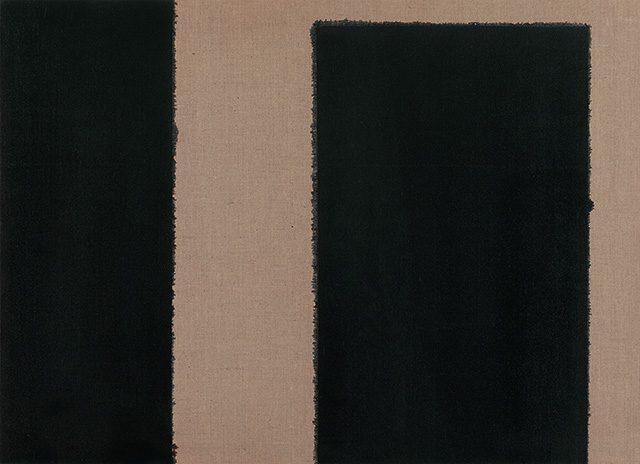 윤형근, 'Burnt Umber & Ultramarine', 1996, Oil on linen, 73×100cm